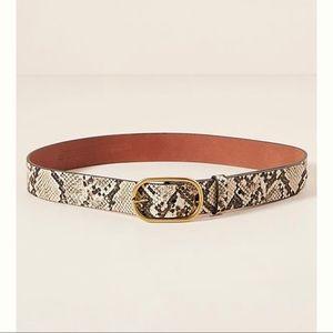 Anthropologie snake printed belt